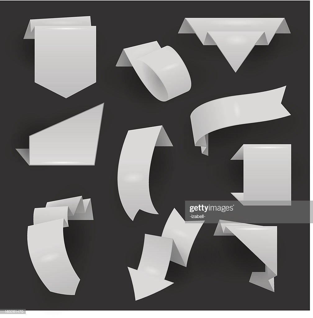 Blank origami ribbons