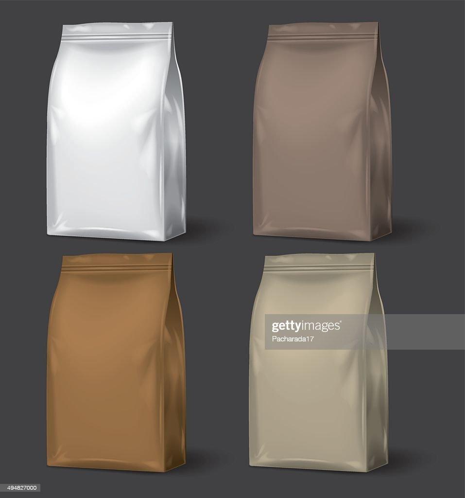 Blank Packaging, set of 4