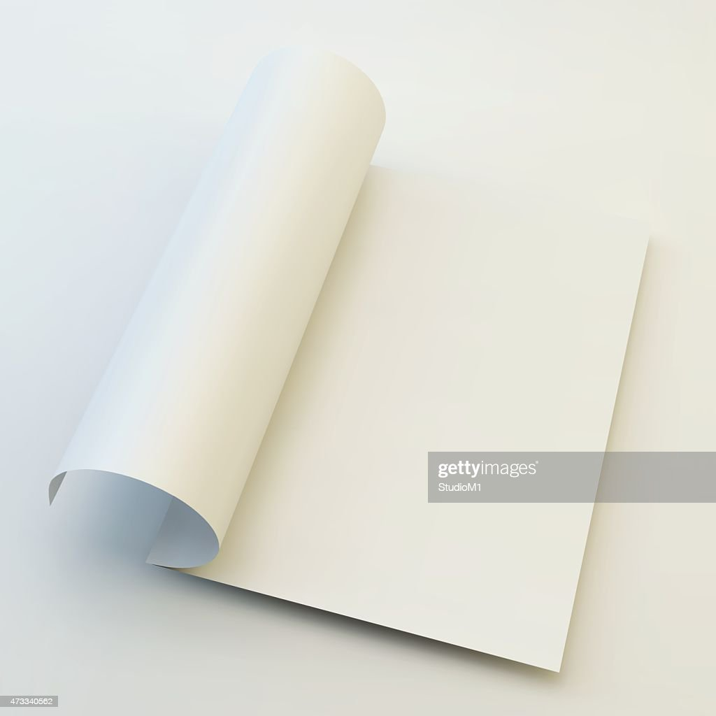 Blank page template for a magazine