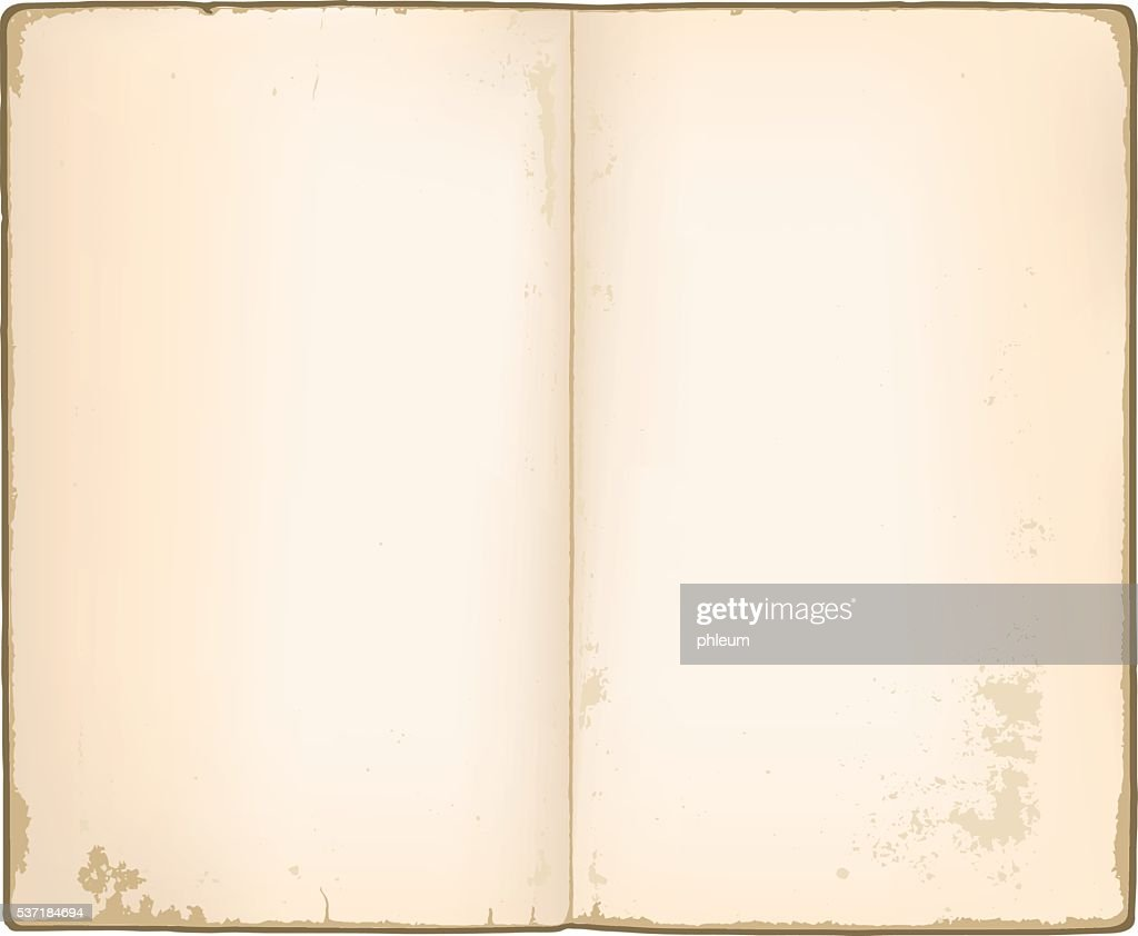 Blank pages in old notebook