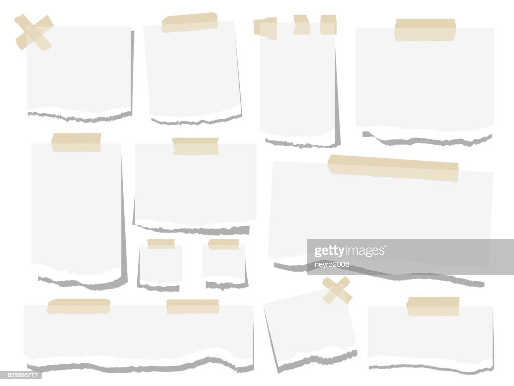 Blank paper torn page notes