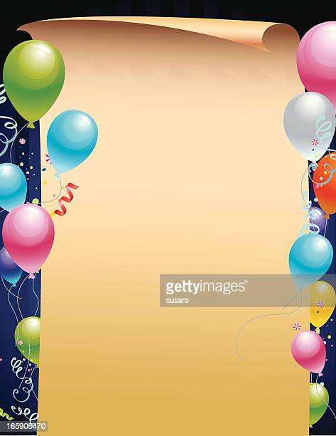 Blank Paper with Balloons