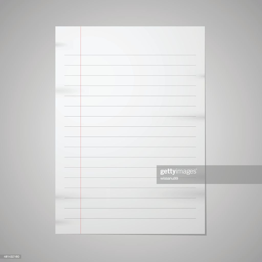 Blank paper with front red line