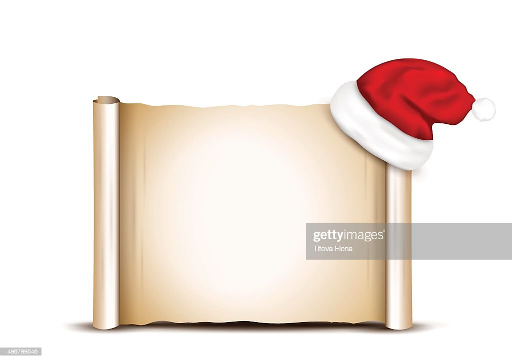 Blank Paper With Santa Hat