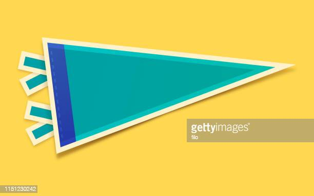 blank pennant - fan enthusiast stock illustrations