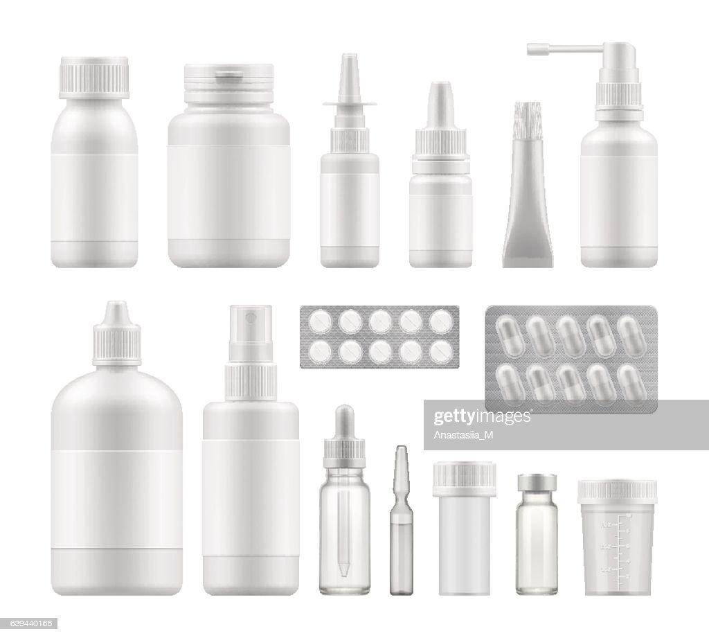 blank pharmaceutical medical packaging