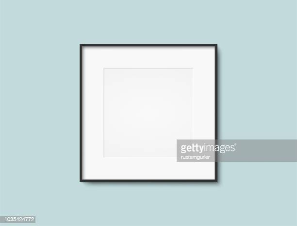 blank photo frame - square composition stock illustrations