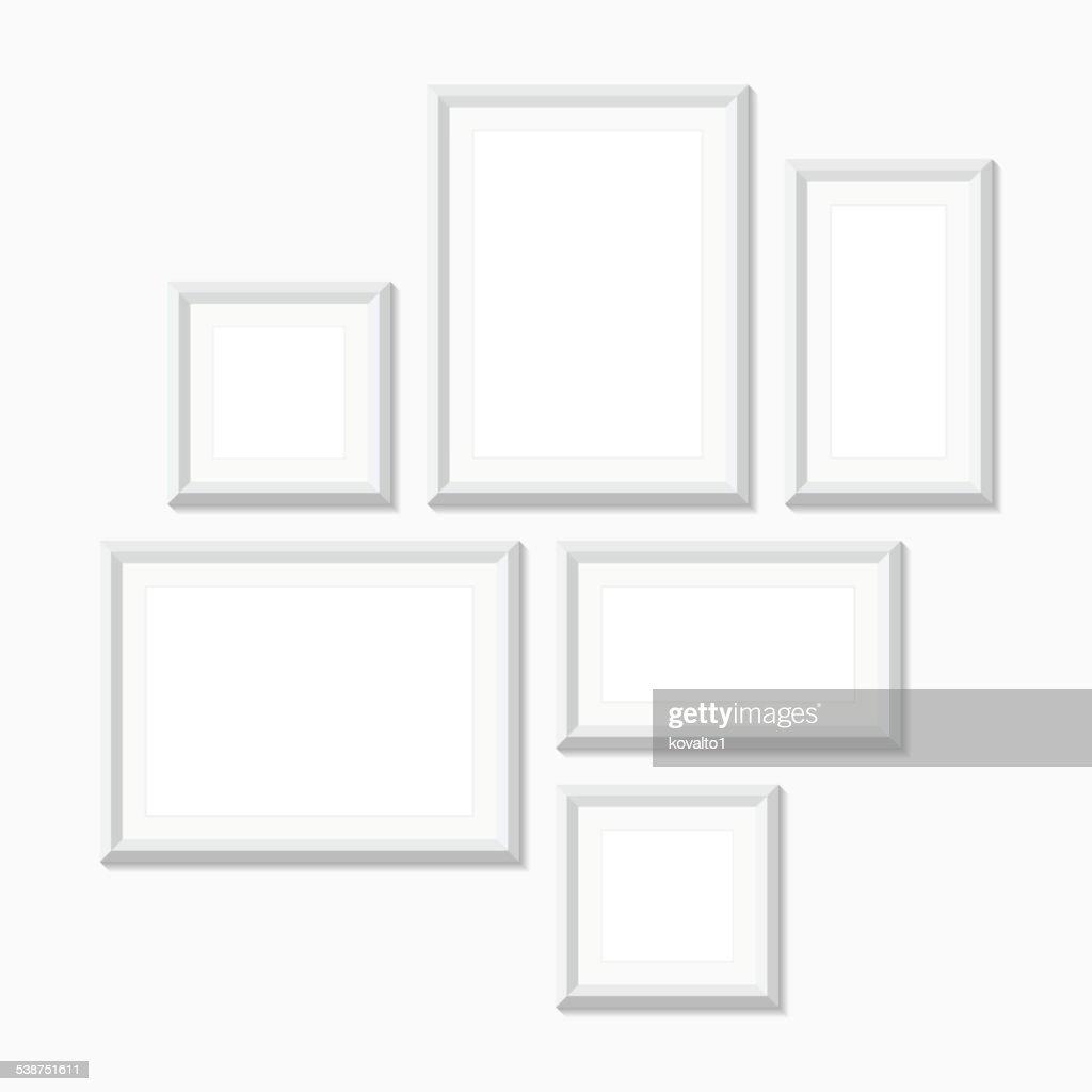 Blank picture frames, vector illustration