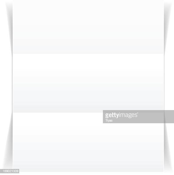 Blank piece of paper with two creases