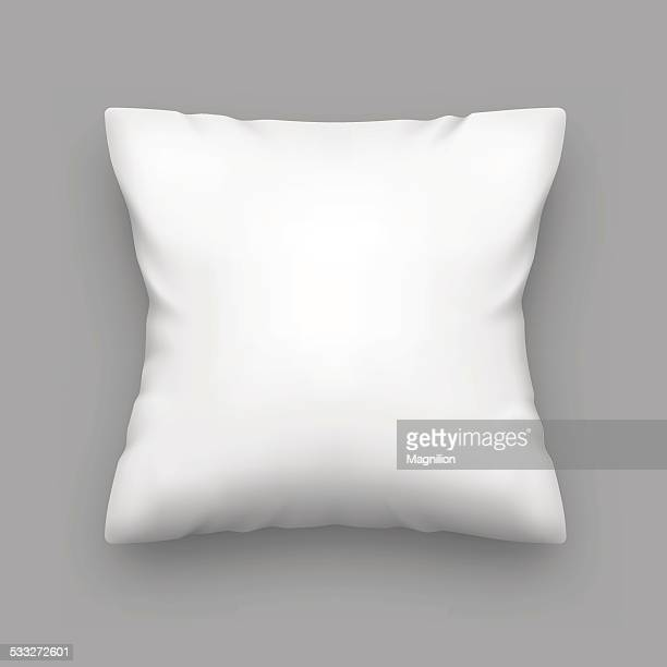 blank pillow - white stock illustrations
