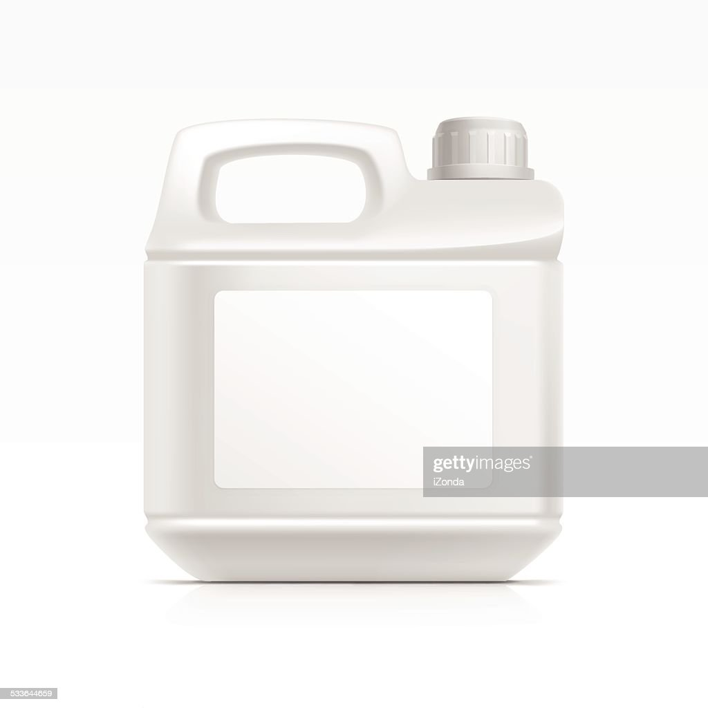 Blank Plastic  Canister Gallon for Oil Cleanser Detergent Abstergent Isolated