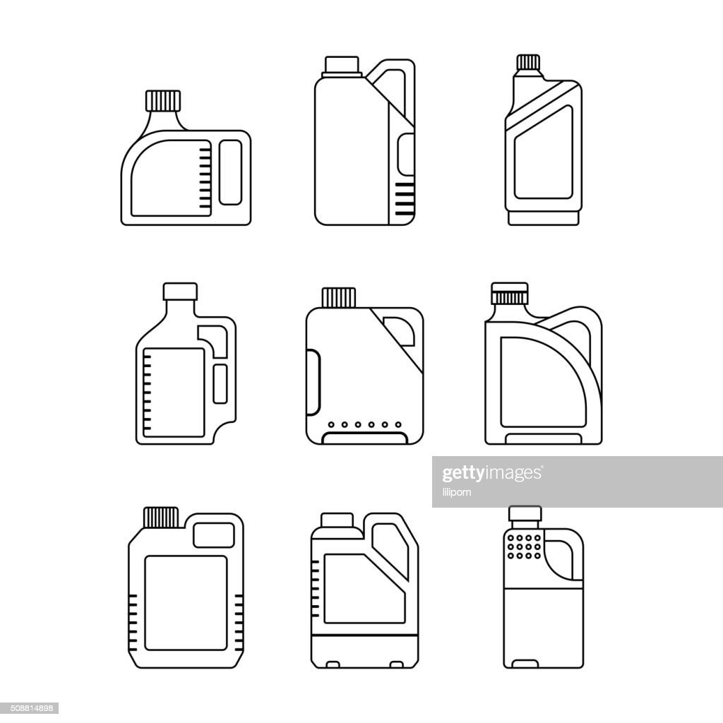 Blank Plastic Canisters, flat icons