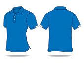 Blank Polo Shirt Vector