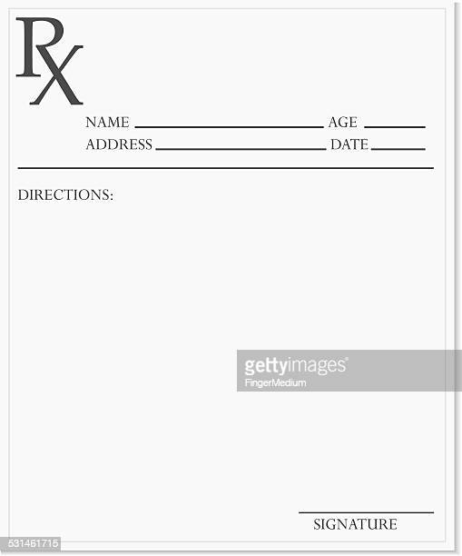 blank prescription - prescription stock illustrations, clip art, cartoons, & icons