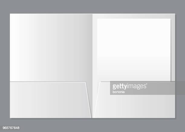 blank presentation folder template - model stock illustrations