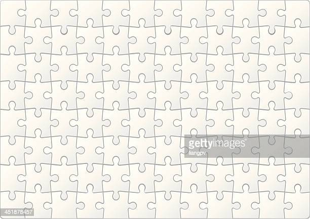 Blank puzzle with small white pieces