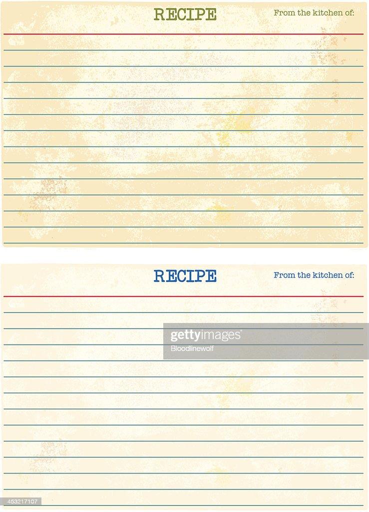 空白のレシピカード : ストックイラストレーション