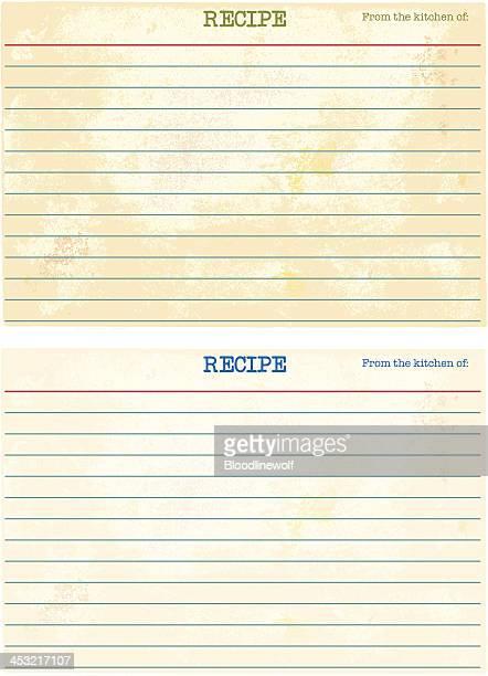 blank recipe cards - blank stock illustrations