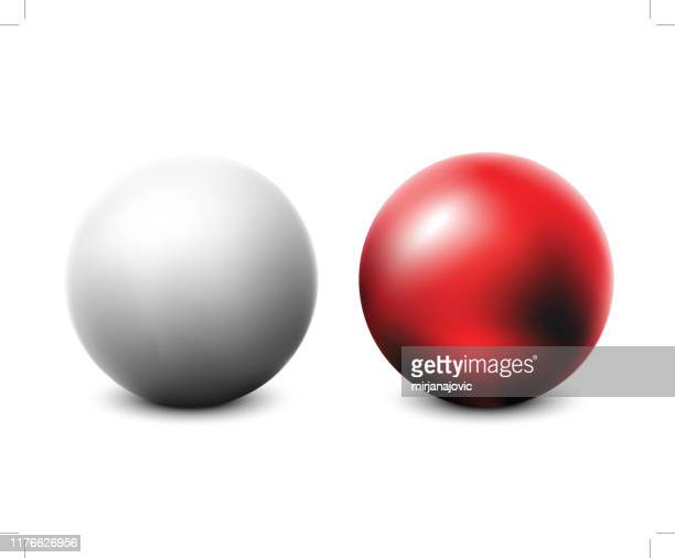blank red and white ball - ball stock illustrations
