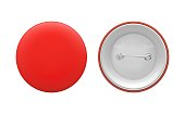 Blank red round pin