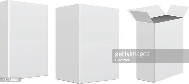 blank retail box - white stock illustrations