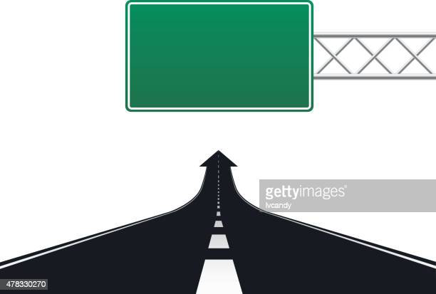 blank road sign and road - road sign stock illustrations