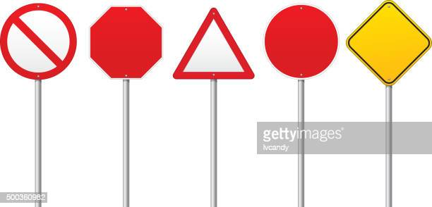 blank road signs - blank stock illustrations