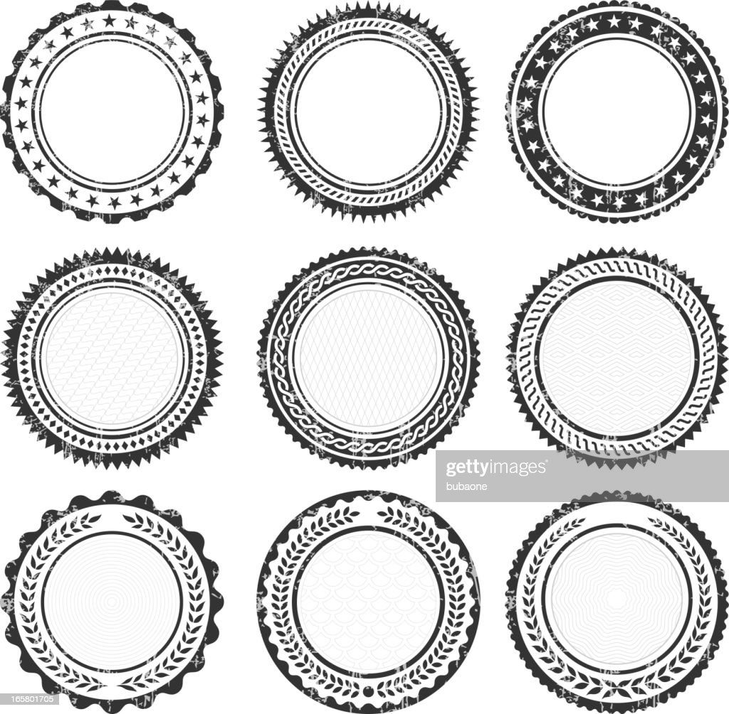 Blank Round Insignia promotional Badges Grunge Texture