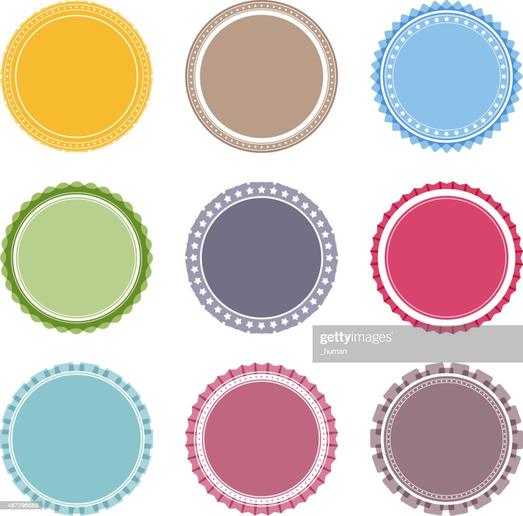 Blank Round Labels