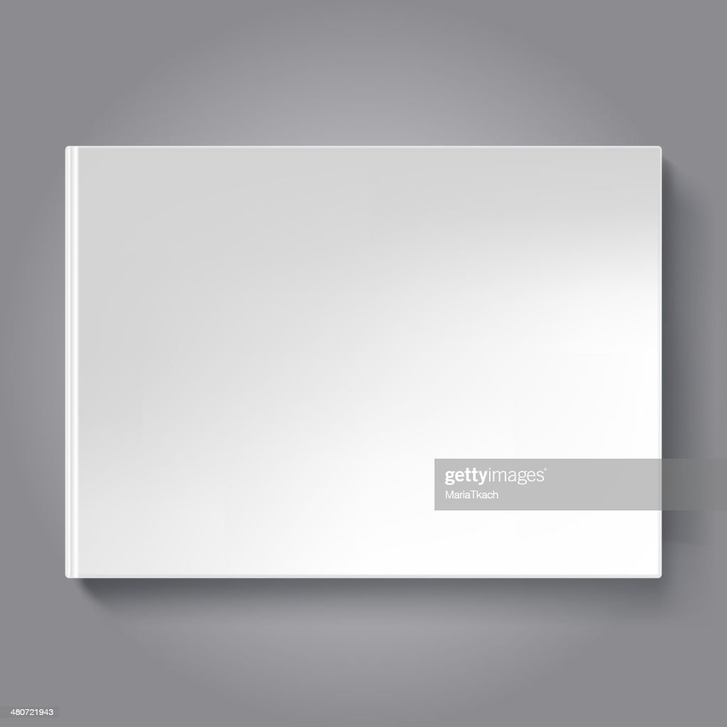 Blank scrapbook cover template. Horizontal oriented book.