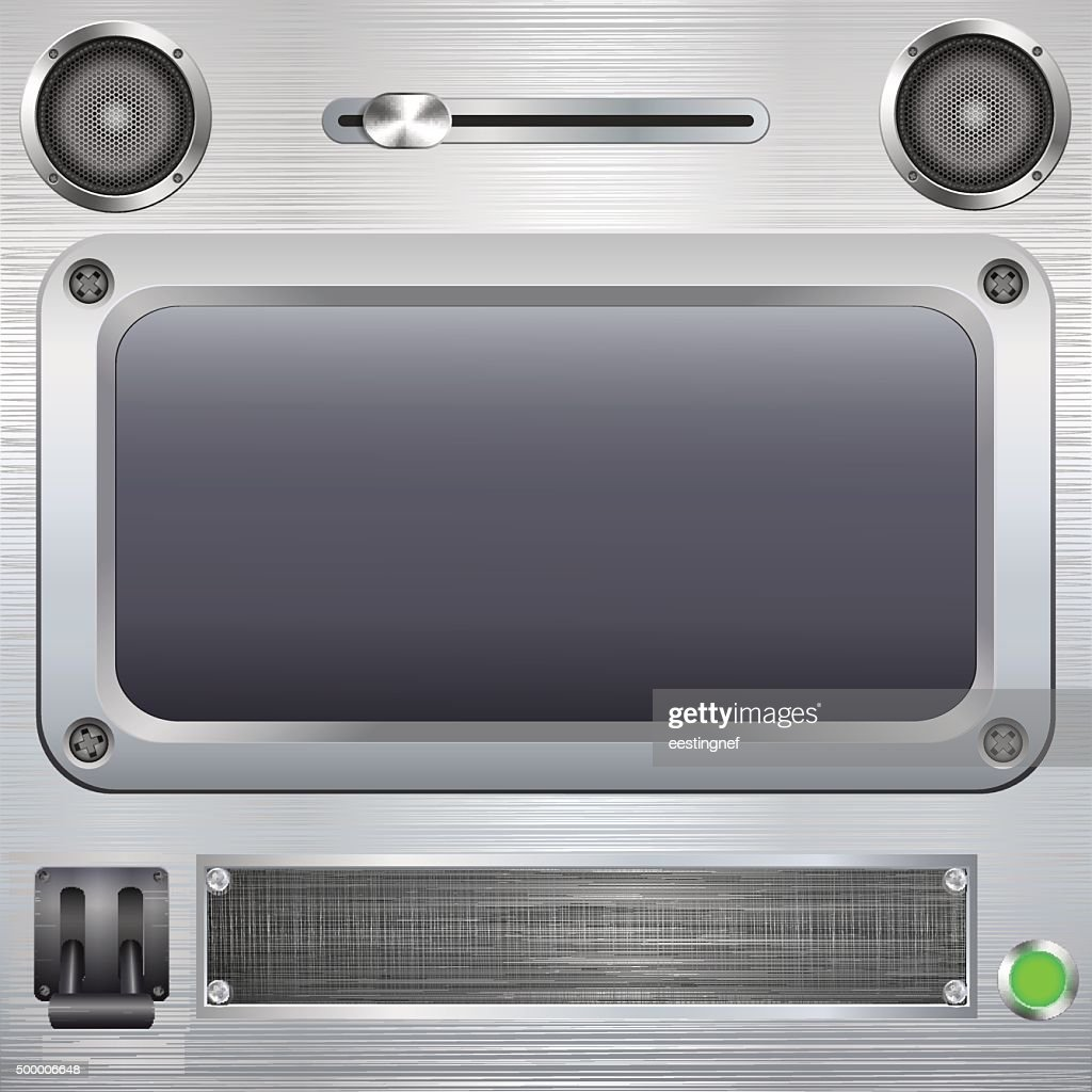 Blank screen with switches.