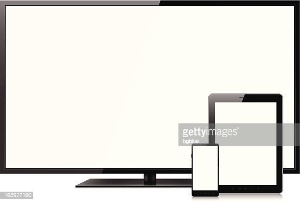 Blank screens on smartphone, tablet pc and television