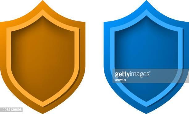 blank shield - shielding stock illustrations