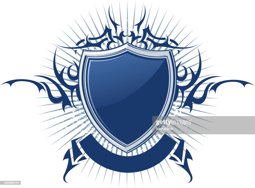 blank shield vector art getty images