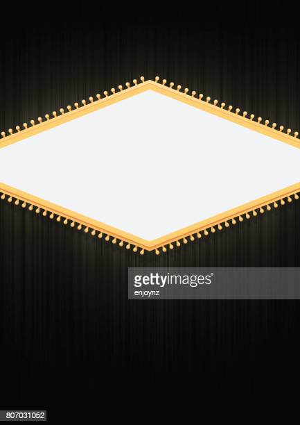 Blank sign poster background