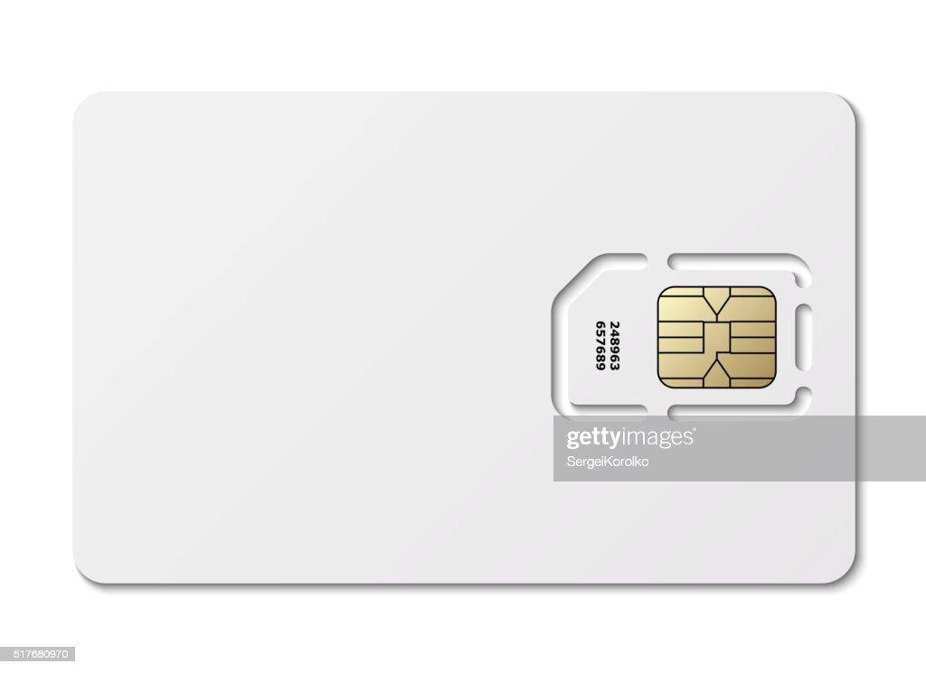 Blank sim card. Vector