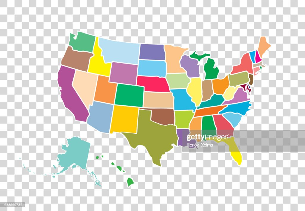 blank similar usa map isolated on white background united states of america country vector template for website design cover infographics