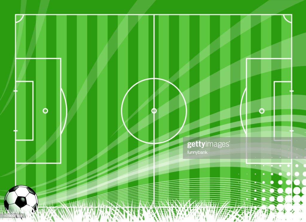 blank soccer field