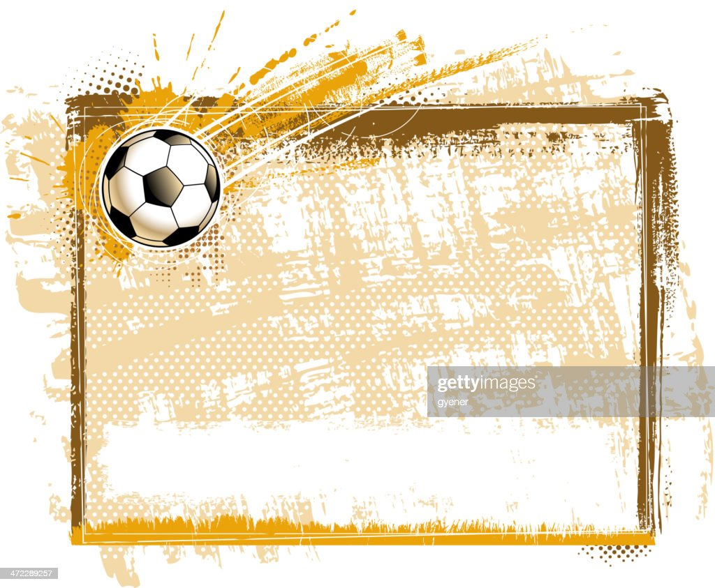 Blank Soccer Goal Frame Vector Art | Getty Images