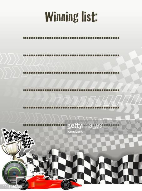 blank speed list - go carting stock illustrations, clip art, cartoons, & icons