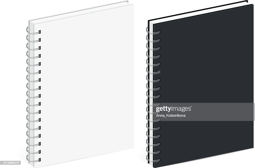 Blank Spiral Notebook Template