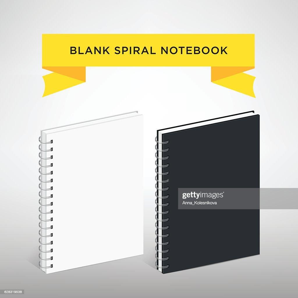 Blank Spiral Notebook Template : Vector Illustration.