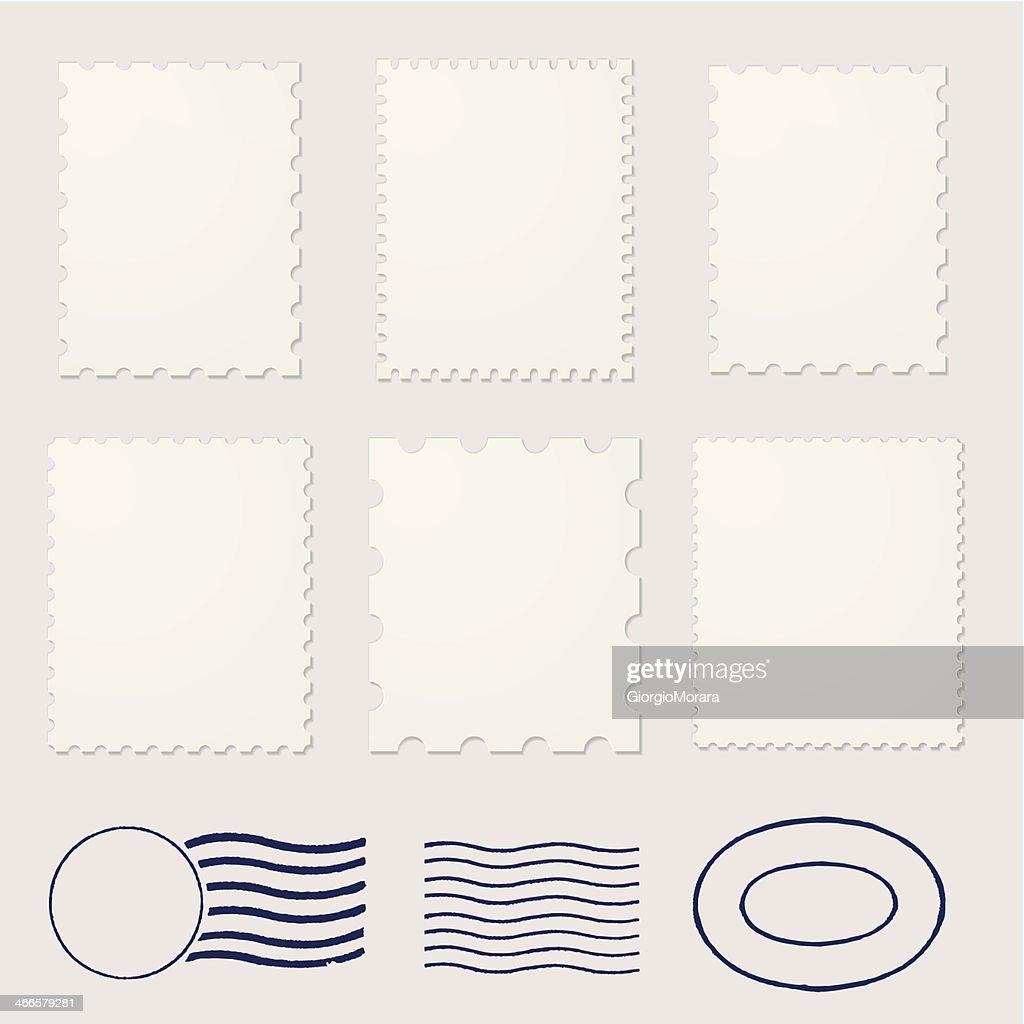 Blank stamps frames