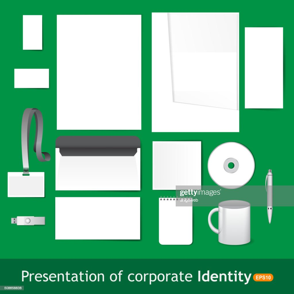 Blank Stationery and Corporate ID Template. : Vector Art