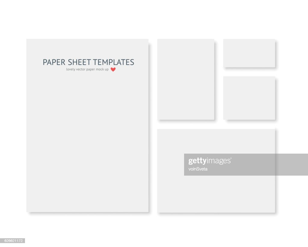 Blank stationery and corporate identity template. Consist of realistic vecto