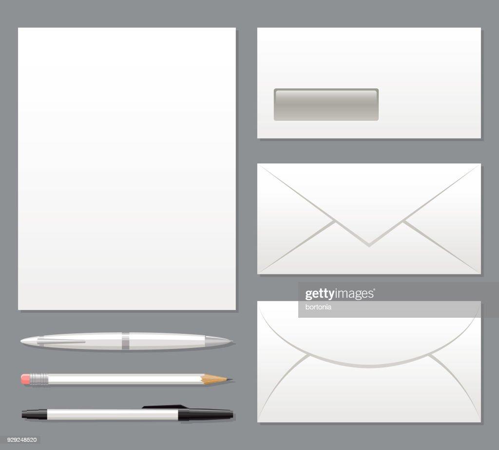 Blank Stationery Set Template