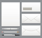Blank Stationery Set Template