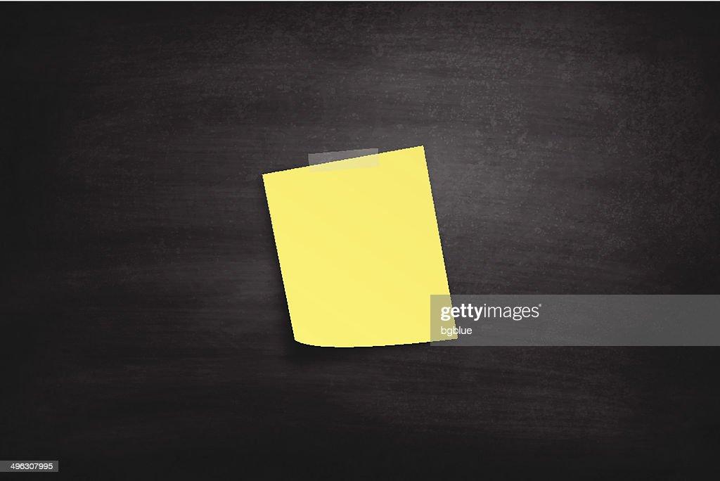 blank sticky note on blackboard chalkboard vector art getty images