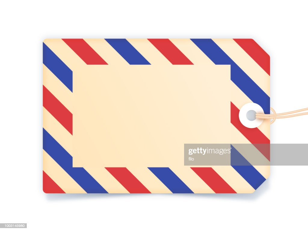Blank Striped Tag : stock illustration