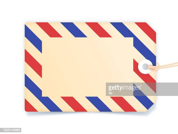 blank striped tag - luggage tag stock illustrations, clip art, cartoons, & icons